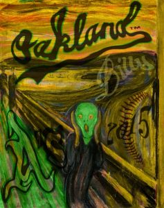 Oakland Athletics Scream Munch