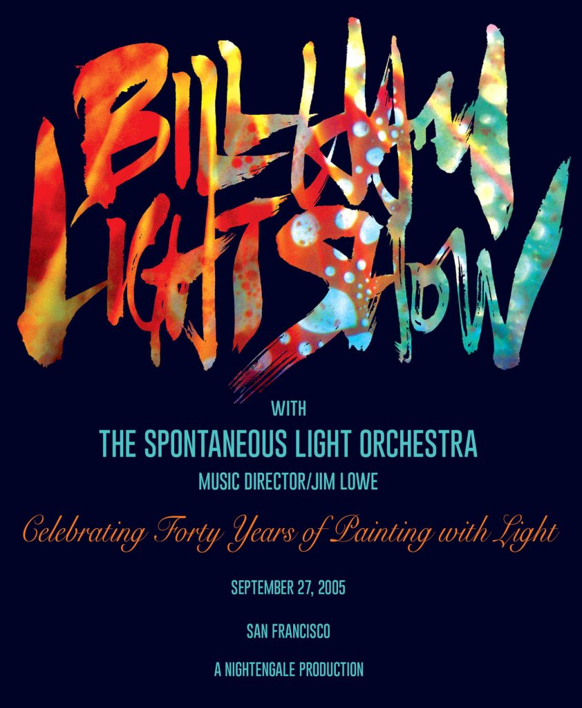 Bill Ham 40 years Anniv Lightshow Catalogue at Cobbs, San Francisco, edited by emi