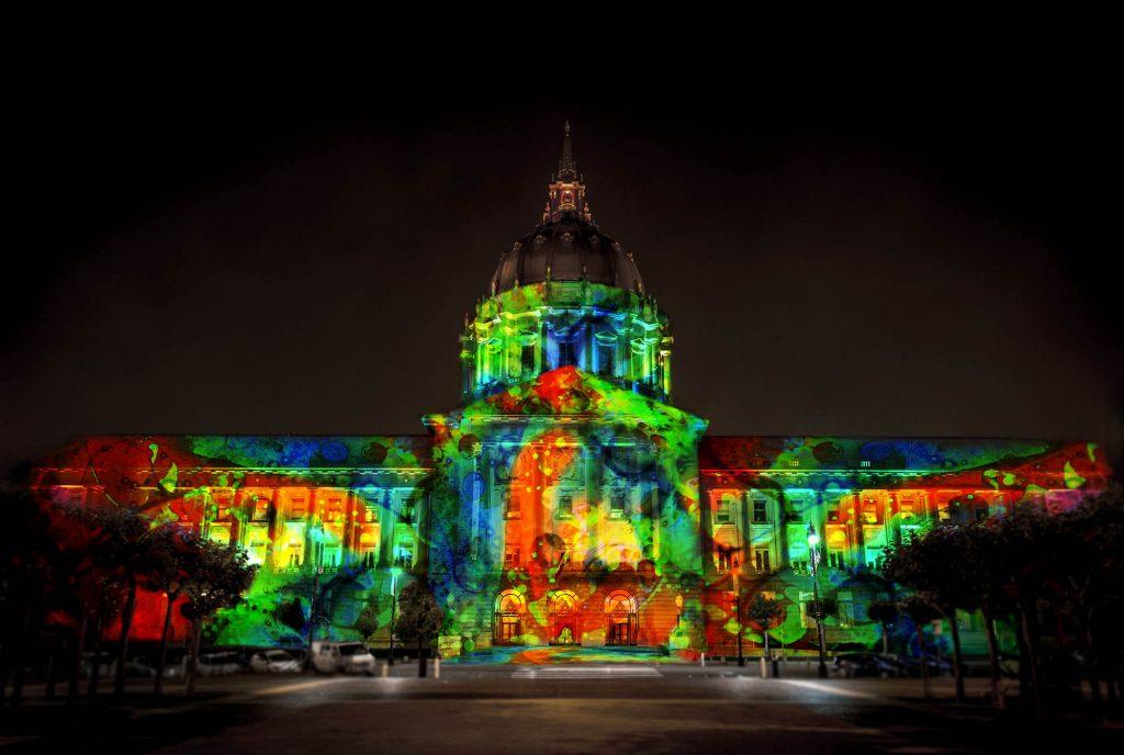 Bill Ham Lights SF City Hall edited by emi