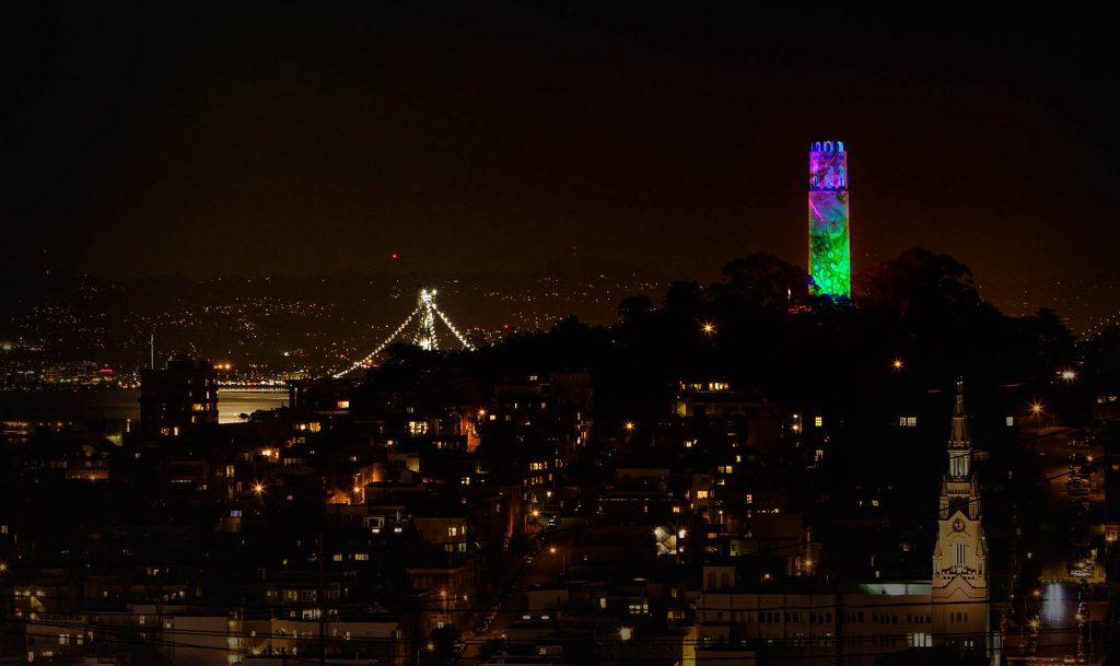 Bill Ham Lights Saint Coit Tower edited by emi
