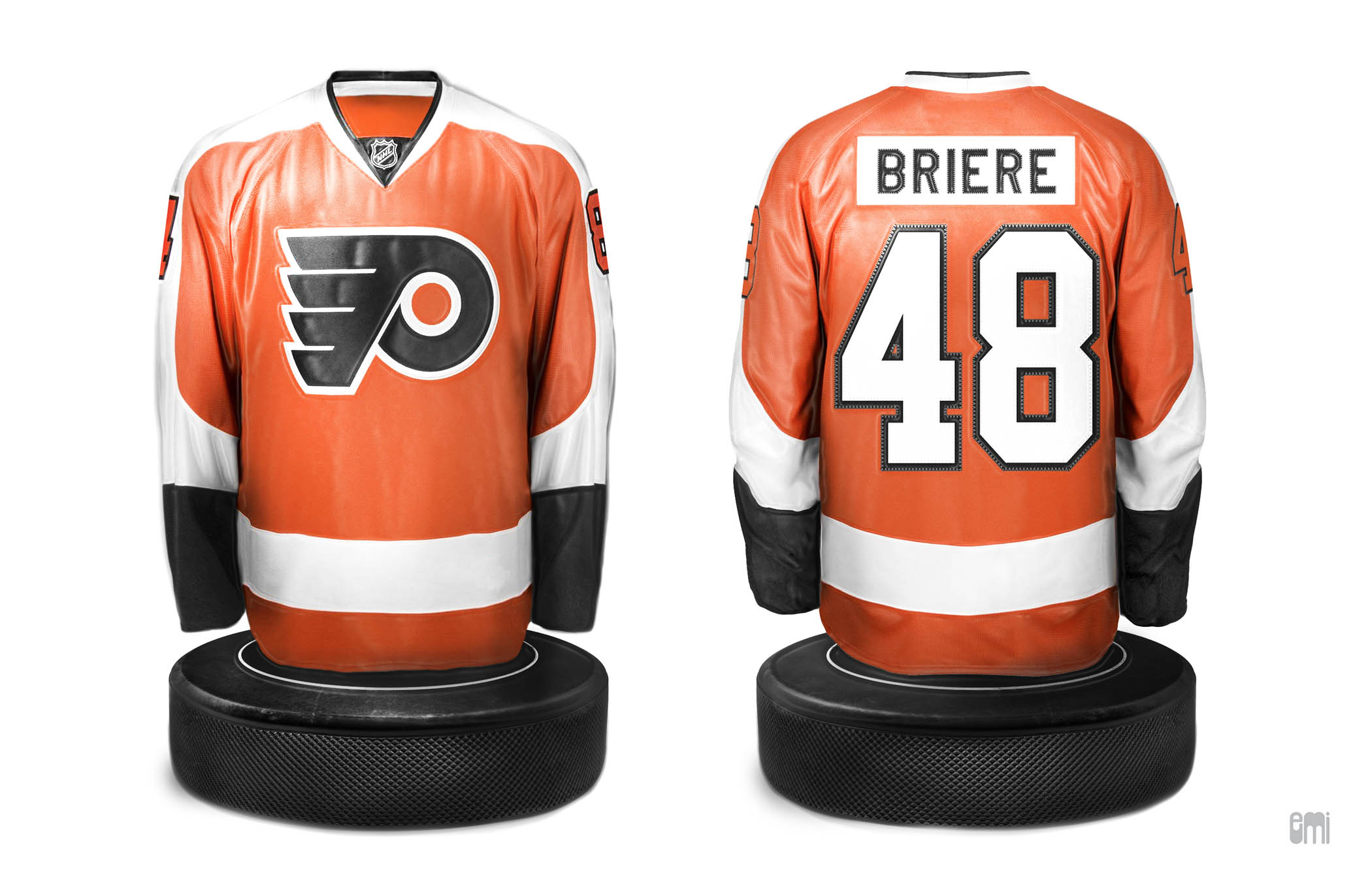 Briere Hockey Jersey Replica Desktop Polyresin Miniature, design by emi