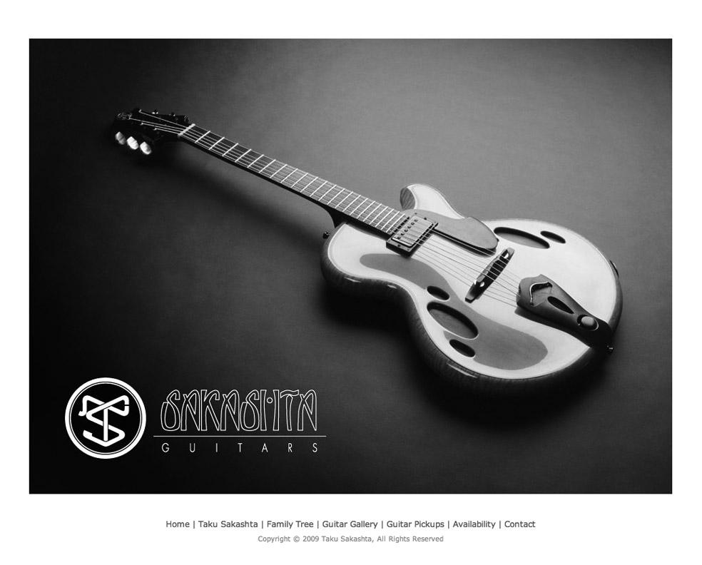 Sakashita Guitar website, design by emi
