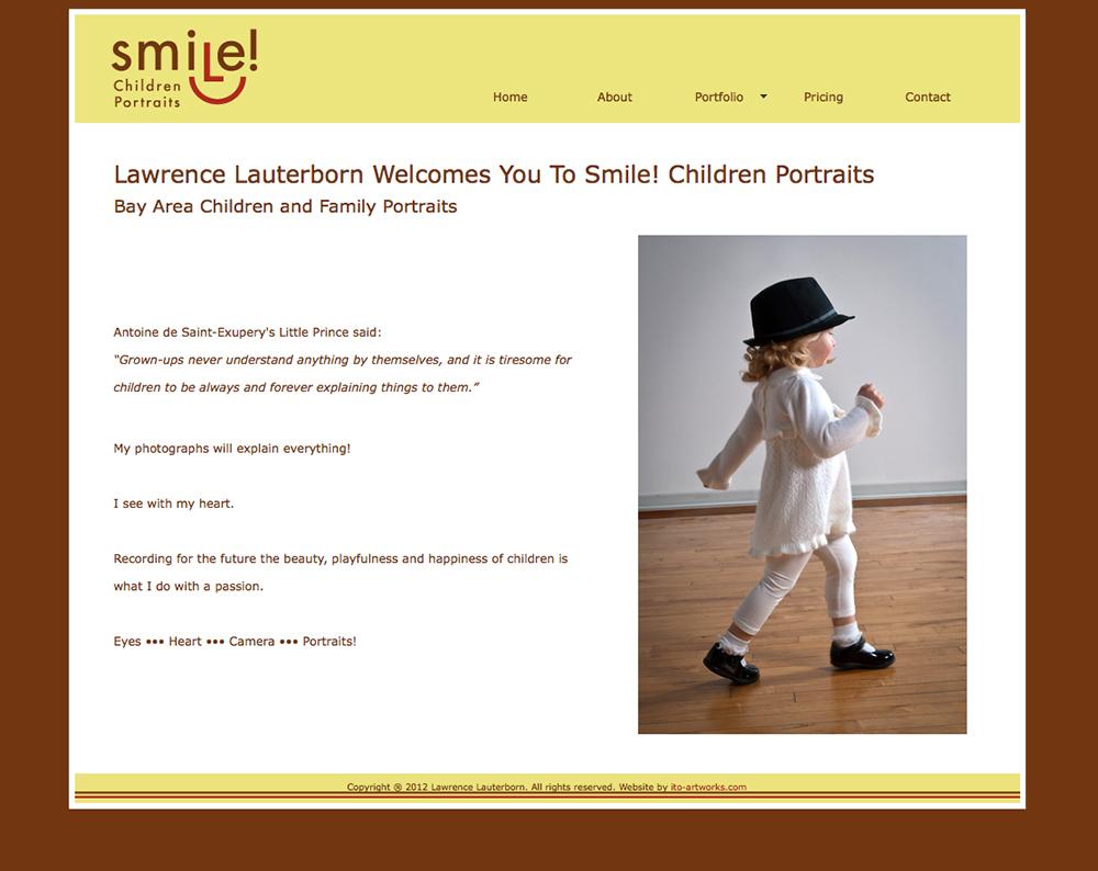 smile photo website, design by emi